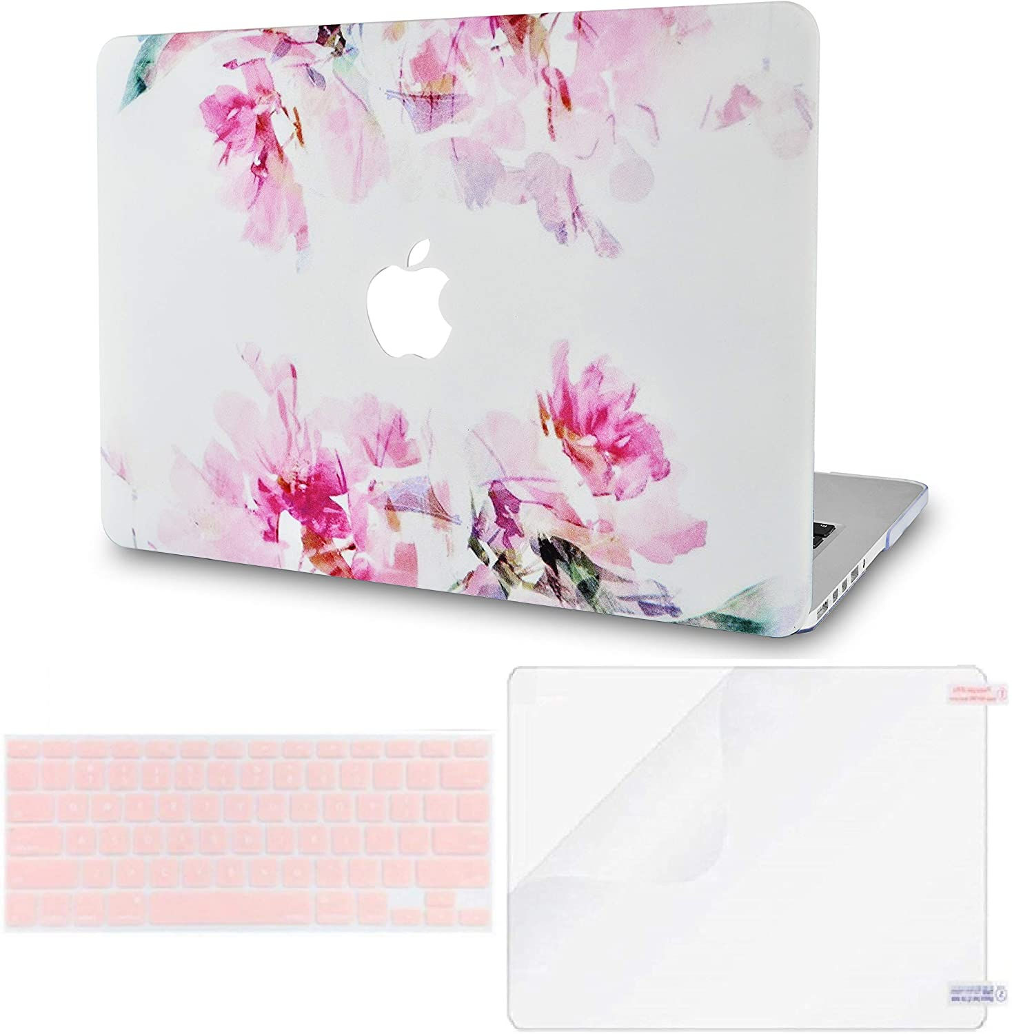 LuvCase 3 in 1 LaptopCase forMacBookAir 13 Inch A1466 / A1369 (No Touch ID)(2010-2017) HardShell Cover, Keyboard Cover & Screen Protector(Flower 22)