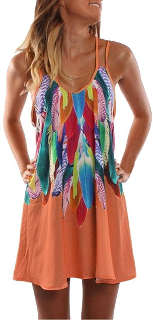CUCUHAM Womens Summer Boho Casual Printed Maxi Party Cocktail Beach Dress Sundress