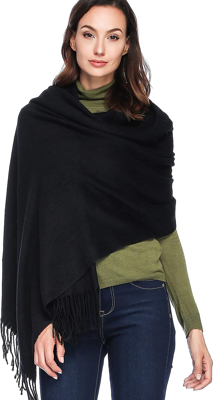 HOYAYO Cashmere Wool Shawl Wraps - Extra Large Thick Soft Pashmina Scarf(Various Colors)