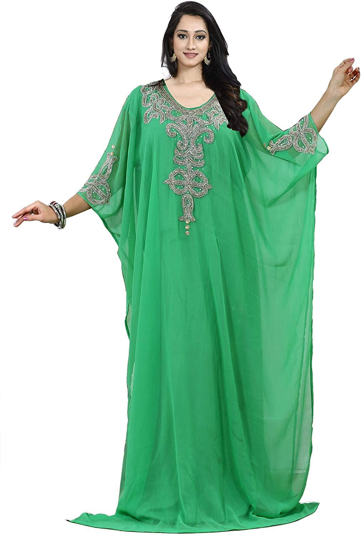 KoC Women Kaftan Farasha Caftan Kimono Long Maxi Dress Summer Cover up Free Size