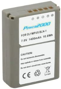 Synergy Digital Camera Battery, Works with Olympus PEN-F Digital Camera, (li-ion, 7.4V, 1400 mAh) Ultra Hi-Capacity, Compatible with Olympus BLN-1 Battery