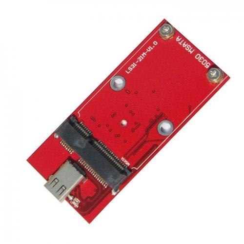 JSER USB-C USB 3.1 Type C to 50mm mSATA PCI-E Solid State Disk SSD Case Enclosure Gold Color JSER