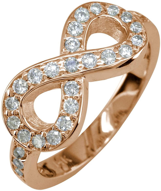SZIRO Diamond Infinity Ring, 0.70CT in 14K Pink Gold
