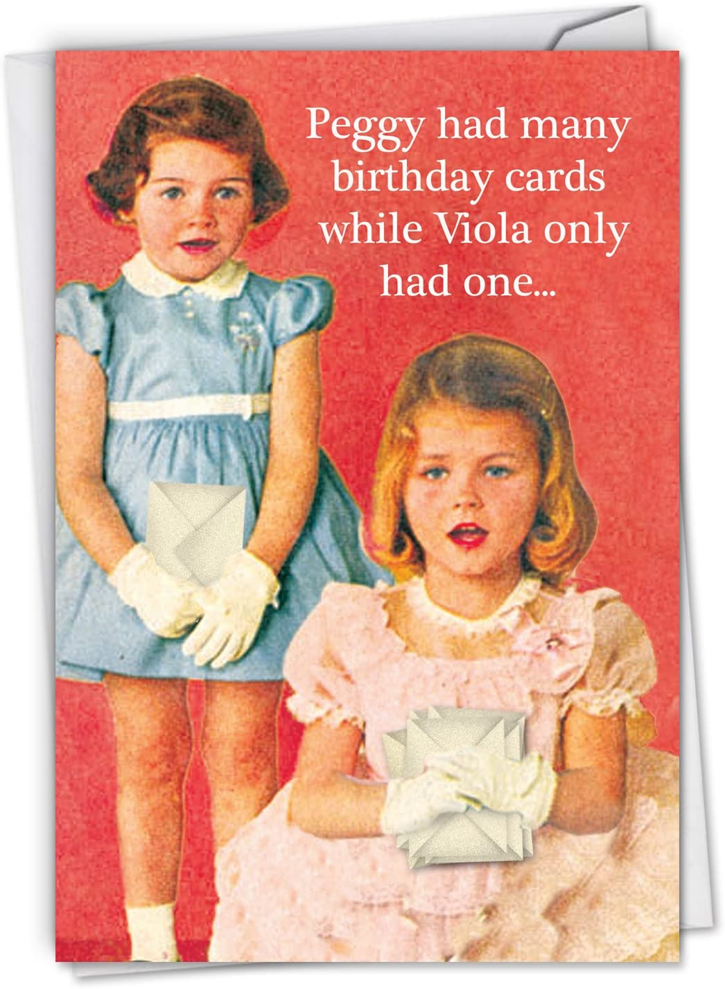 Peggy Is A Whre: Humorous Birthday Greeting Card, with Envelope. C2182BDG