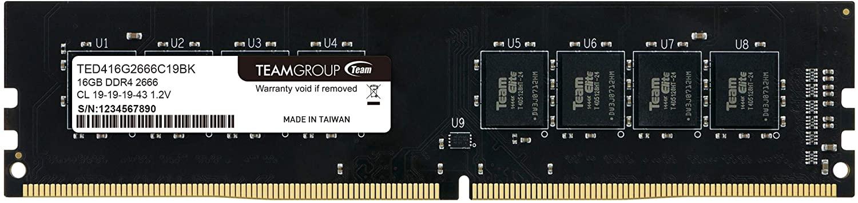 TEAMGROUP Elite DDR4 32GB Single (1 x 32GB) 3200MHz (PC4-25600) CL22 Unbuffered Non-ECC 1.2V UDIMM 288 Pin PC Computer Desktop Memory Module Ram Upgrade - TED432G3200C2201