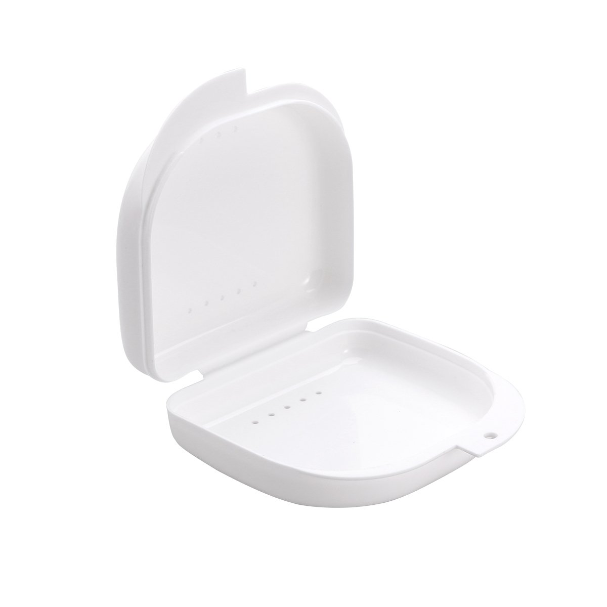 ROSENICE Retainer Case With Vent Holes and Hinged Lid Snaps Mouth Guard Case Orthodontic
