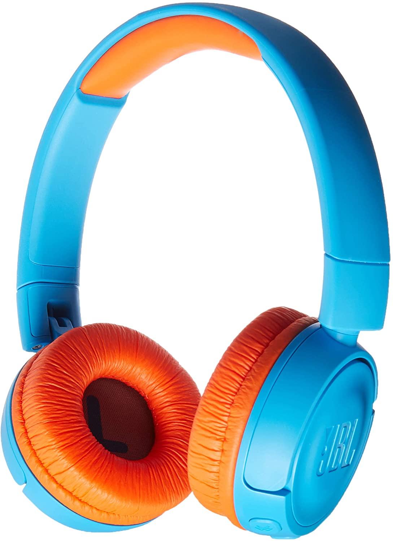 JBL JR 300BT - On-Ear Wireless Headphones for Kids - Blue/Orange