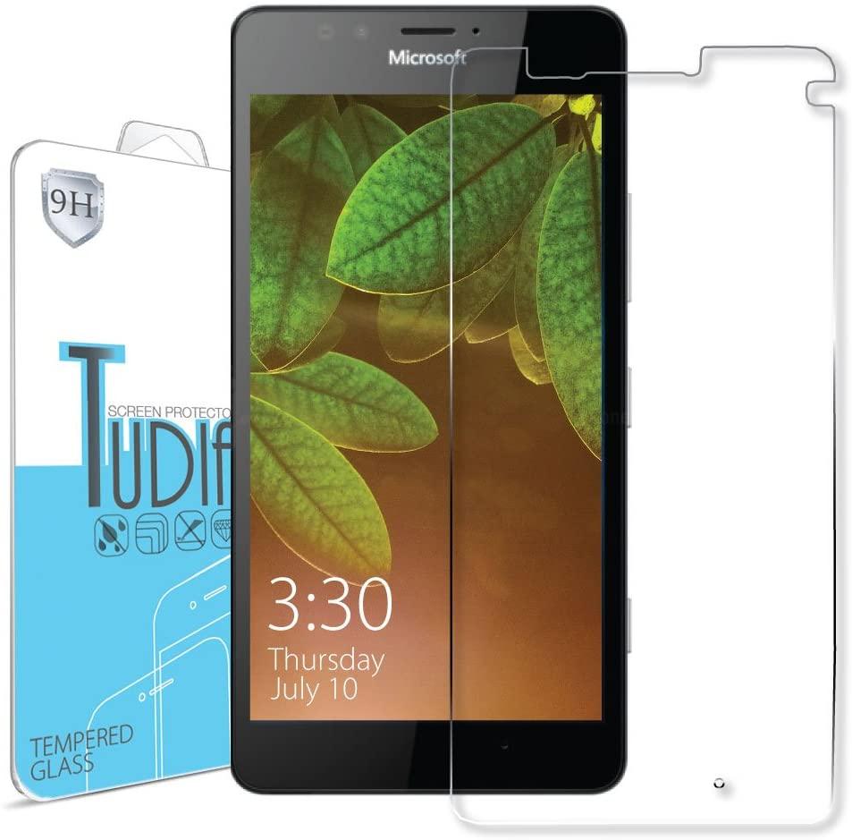 TUDIA Premium Quality HD Ultra Clear Tempered Glass Screen Protector for Microsoft Lumia 950