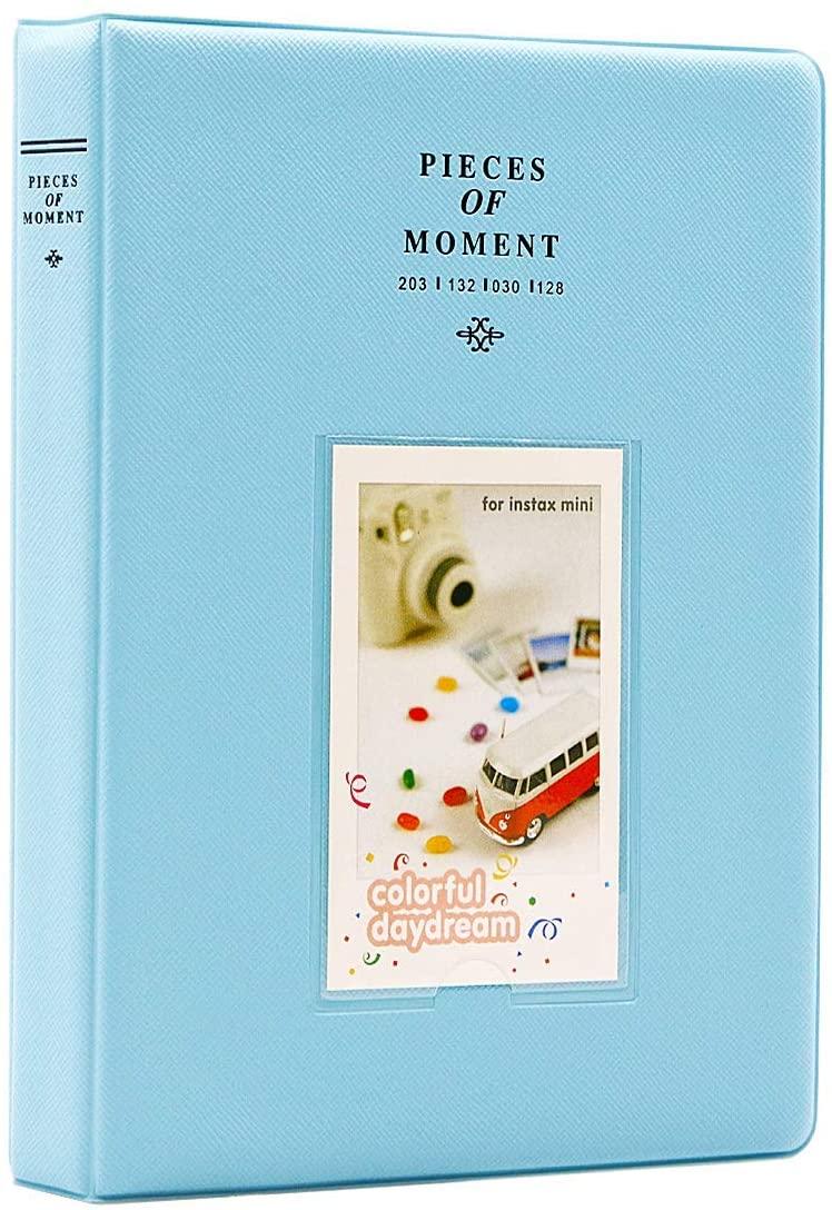 Big Trend 128 Pockets Mini Film Photo Album Book for Fujifilm Instax Mini 9 8 7s 70 25 50s 90 Instant Camera 3 Inch Picture Name Card Holder (Blue, 128 Pockets)