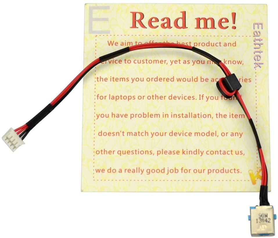 Eathtek Replacement DC Power Jack Harness Cable for Acer Aspire 5251 5551 5551G 5741 5741G 5741Z 5750 5750G 5750TG 5750Z 5750ZG 5750G-2312G50 Series
