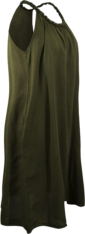 CCcollections Cotton Knee high A line Dress Plait Strap