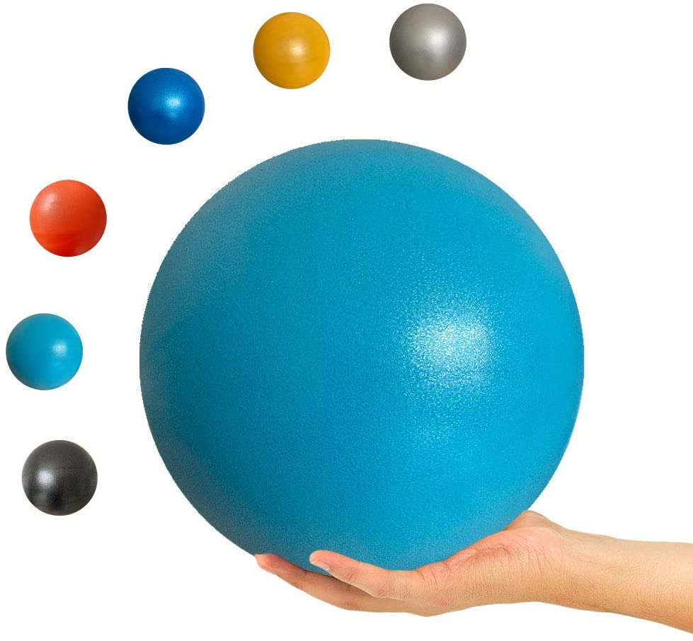 LAYXL 9 Inch Exercise Pilates Ball Mini Exercise Barre Ball for Yoga,Stability Exercise Training Gym Anti Burst and Slip Resistant Balls Physical Improves Balance Core Strength Back Pain Posture