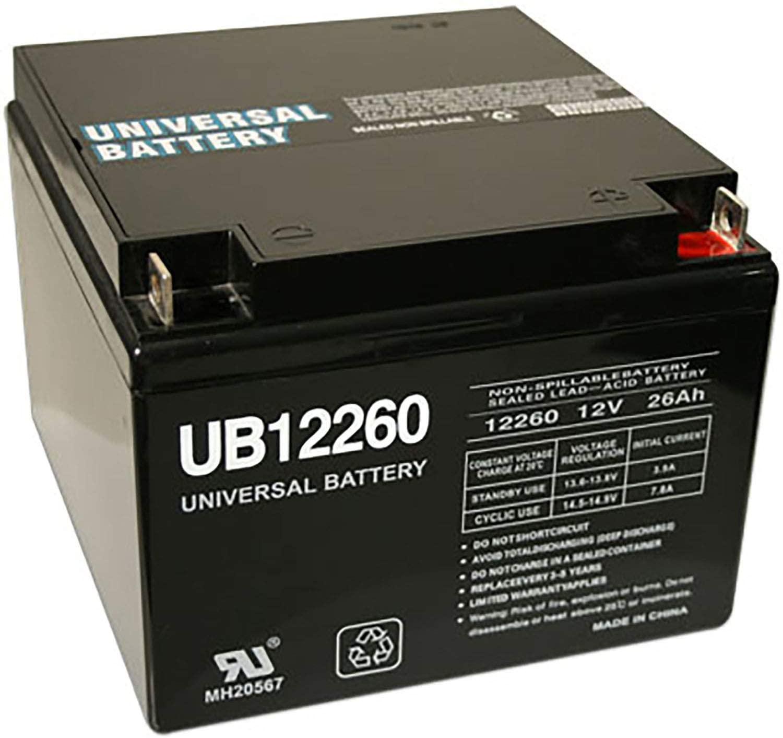 Universal Power Group 12V 26Ah Amigo 12260 CANTRA Deluxe GAJA GT Wheelchair Battery