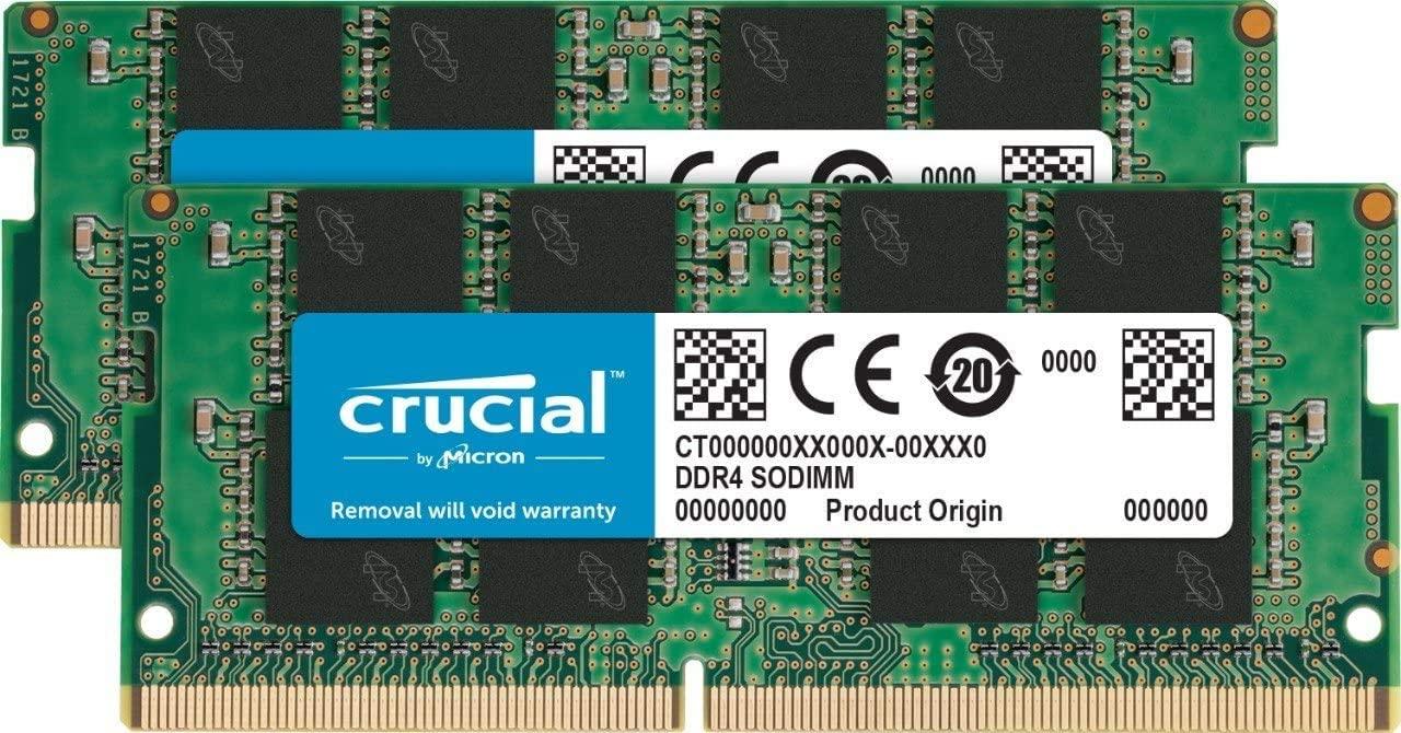 Crucial Memory Bundle with 32GB (2x16GB) DDR4 PC4-21300 2666MHz (CT2K16G4SFD8266) Compatible with Aspire 5 Slim Laptop A515-43-R19L, A515-43-R5RE, A515-43-R6DE