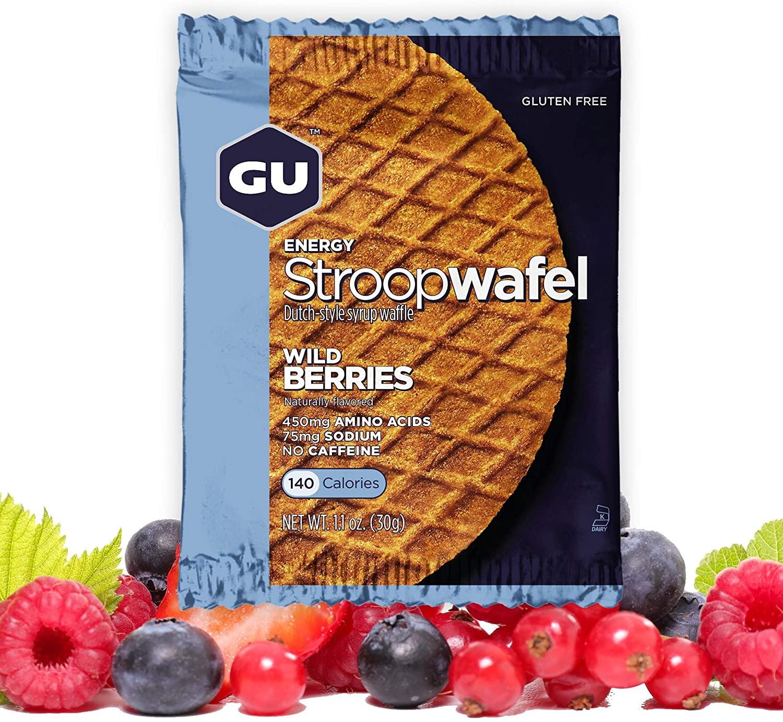 GU Energy Stroopwafel Sports Nutrition Waffle, 16-Count, Gluten Free Wild Berry