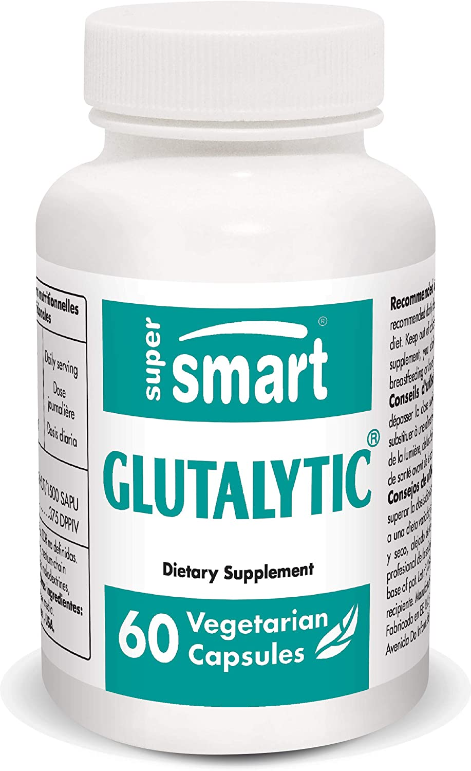 Supersmart - Glutalytic - Fights The Digestive Problems Associated with Gluten Consumption - Helps with Gluten Sensitivity & Digestion | Non-GMO & Gluten Free - 60 Vegetarian Capsules