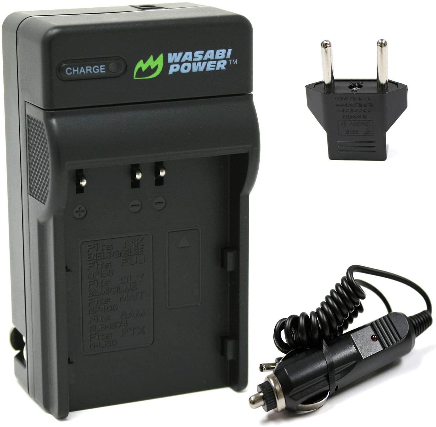 Wasabi Power Battery Charger for Konica Minolta NP-400 and Konica Minolta a Sweet Digital, a-5 Digital, a-7 Digital, DiMAGE A2, Dynax 5D, Dynax 7D, Maxxum 5D, Maxxum 7D