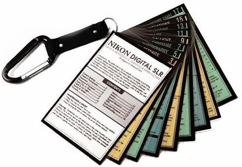 Whitecap Cheat Sheets for Nikon DSLR D3500 D5600 D7500 D3400 D3300 D5500 D5300 D7200 Z7 Z6 D850 D810 D610 D750 D500 Df D5 Tip Cards Camera Quick Guide