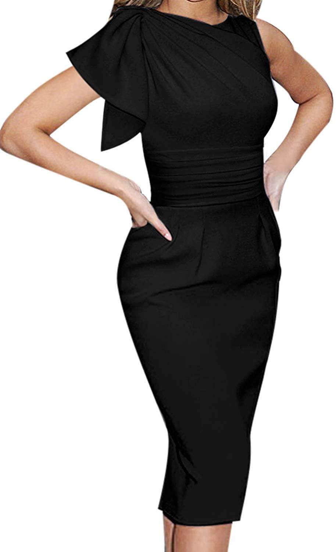 VFSHOW Womens Celebrity Elegant Velvet Ruched Cocktail Party Bodycon Dress