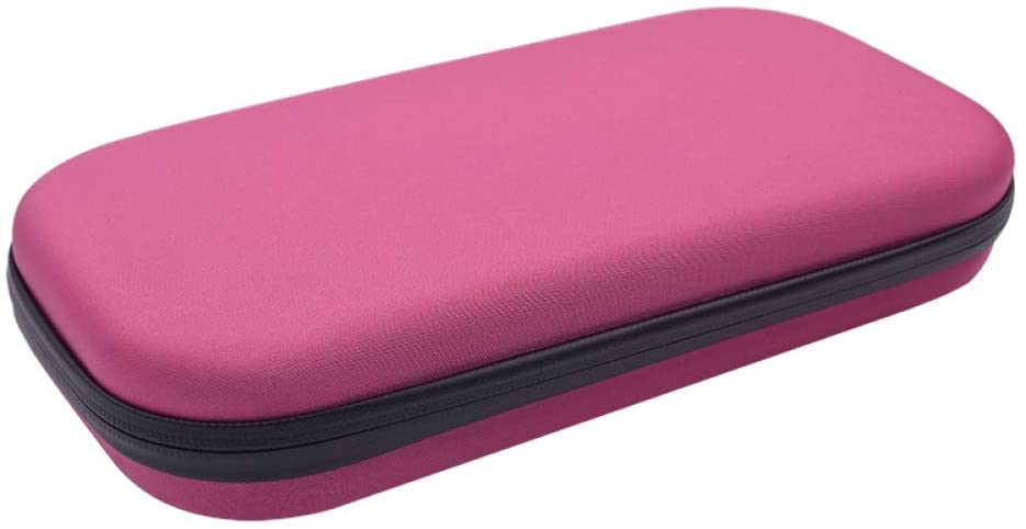 XIUHU Stethoscope Carrying Case Semi-Waterproof Carry Travel Case Portable EVA Hard Storage Bag Drive Pen Medical Organizer Instruments Supply Bag Pink