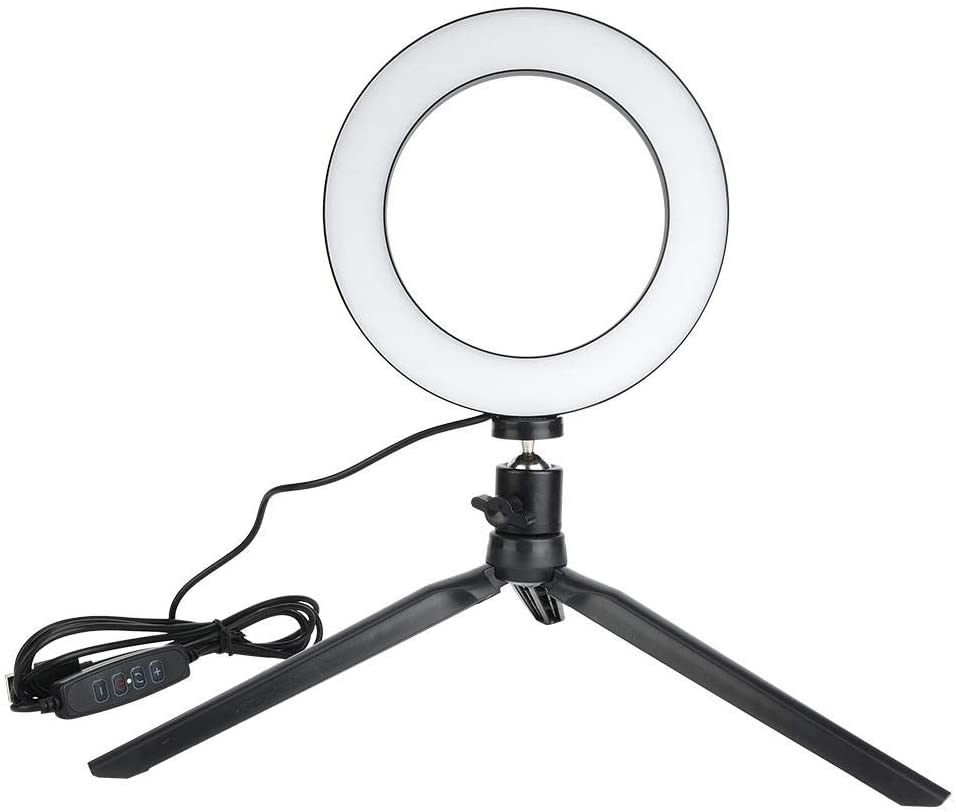 LED Ring Light, 6.30 inch Selfie Ring Light Flashes Kit with foldablde Tripod Stand Cell Phone Holder, Mini Led Camera Ringlight for YouTube Video/Photography