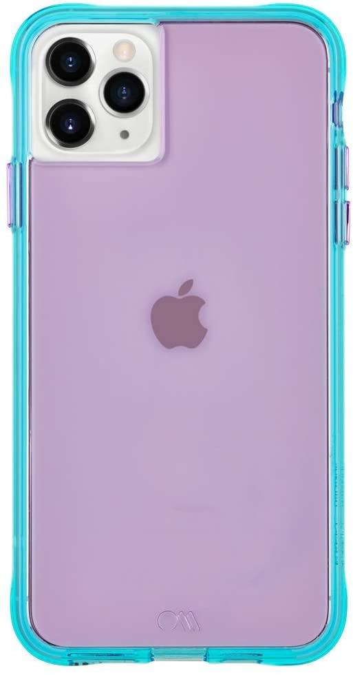 Case-Mate - iPhone 11 Pro Max Case - Tough NEON - 6.5 - Purple/Turquoise Neon