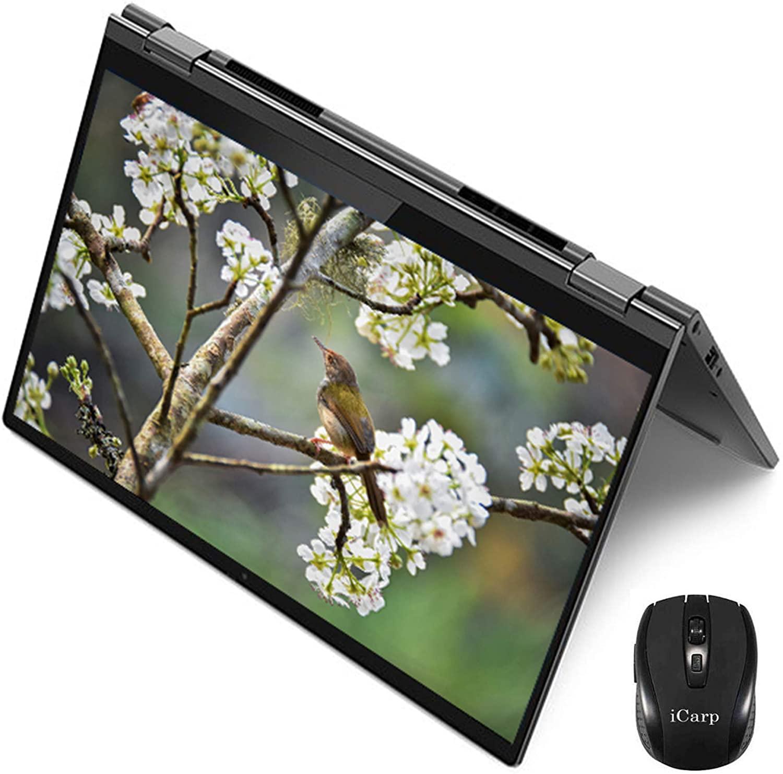 2020 Flagship Lenovo Yoga C640 2 in 1 Laptop Computer 13.3 FHD IPS Touchscreen 10th Gen Intel Quad-Core i7-10510U 16GB DDR4 2TB SSD Webcam Backlit Fingerprint Win 10 + iCarp Wireless Mouse