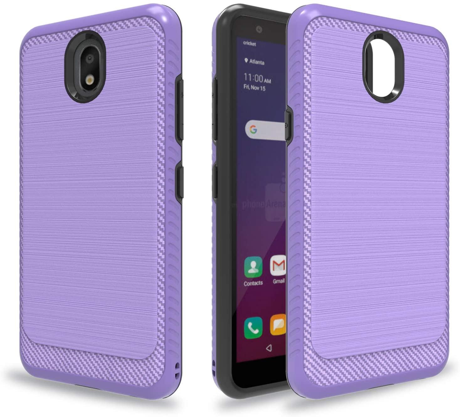 Ayoo:LG Escape Plus Case,LG X2 2019 Case,LG Tribute Royal Case,LG Journey LTE/ K30 2019/ LG Arena 2 Case,Brushed Texture Full-Body Shockproof Protective Cases Design for LG Escape Plus-HLS Purple