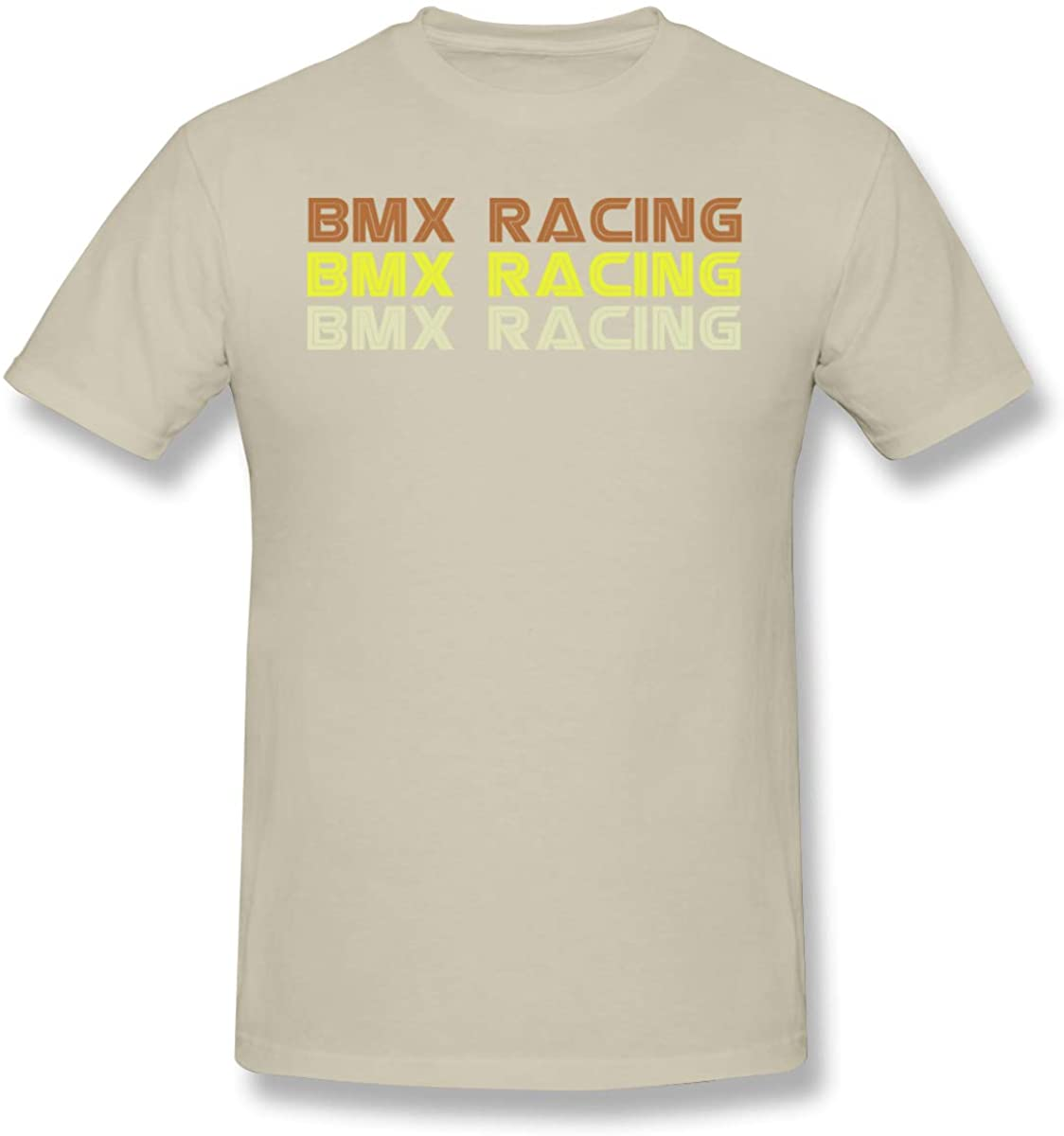 Warshland Men T-Shirts Printed Retro BMX Racing Short Sleeve T Shirt