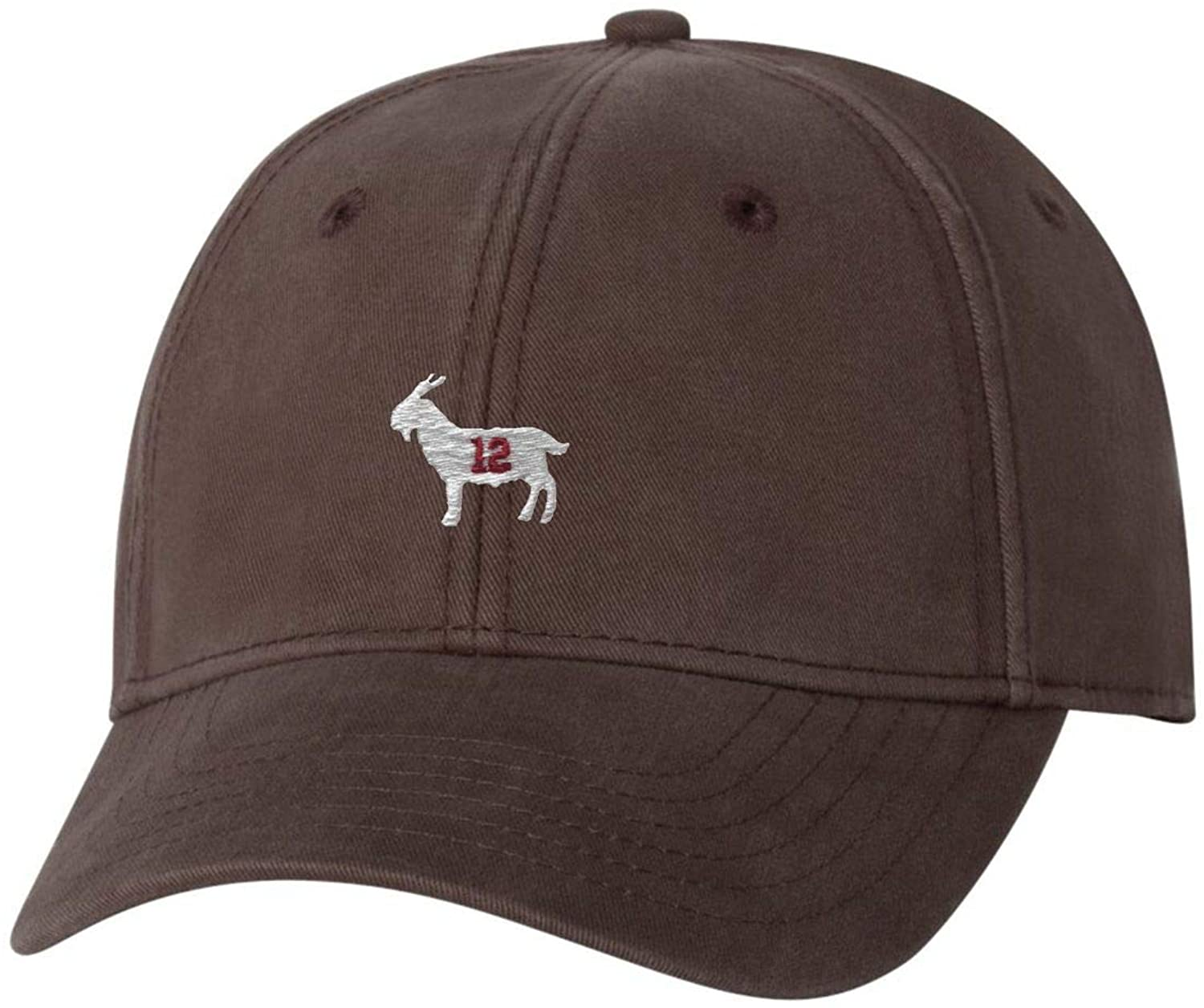 Go All Out Adult Goat #12 Embroidered Dad Hat Structured Cap