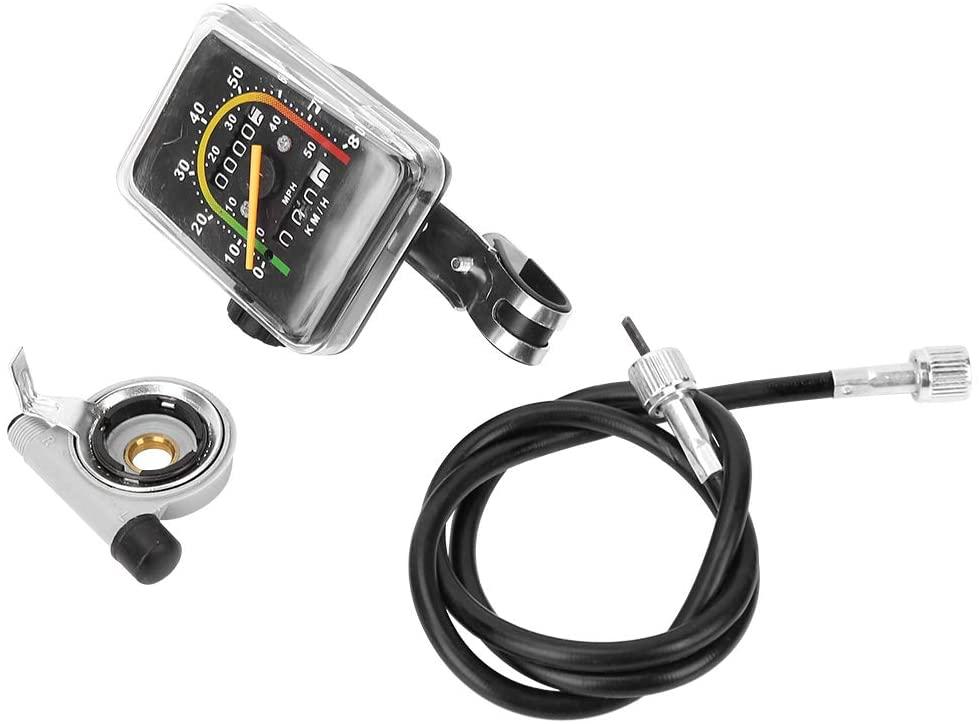 Gojiny Bike Mechanical Odometer, Cycling Speedometer Bicycle Computer Mountain Bike Code Table Waterproof Mechanical Odometer