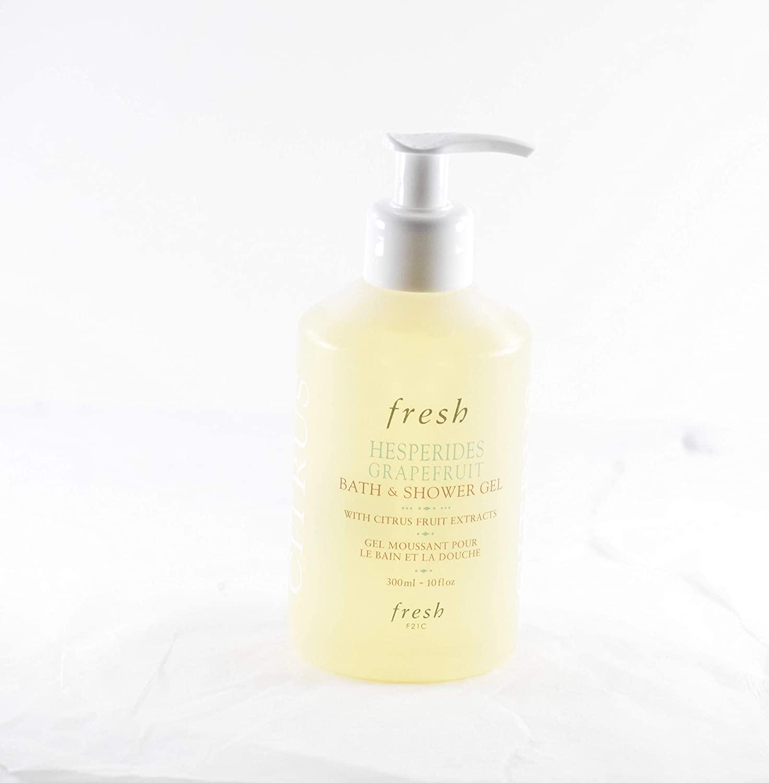 Fresh Hesperides Grapefruit Bath and Shower Wash Gel 10 oz with Pump Dispenser