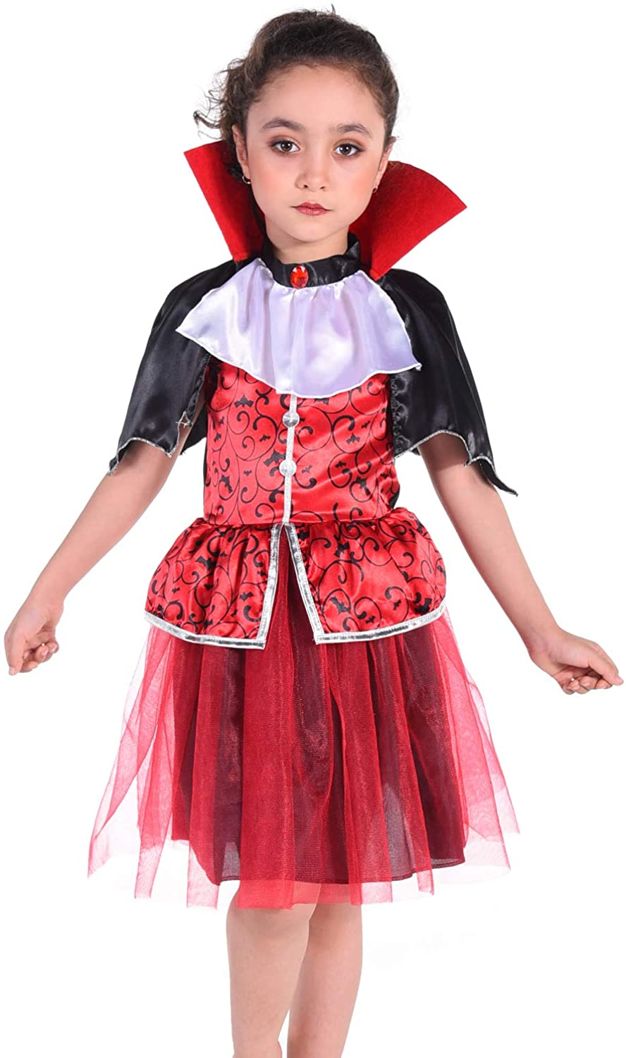 Vampire Costume Role Play Set Kids for Halloween Costume Size 3-8 Years