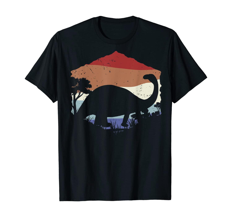 Retro Brontosaurus gift, Dinosaur gift, Vegetarian gift T-Shirt