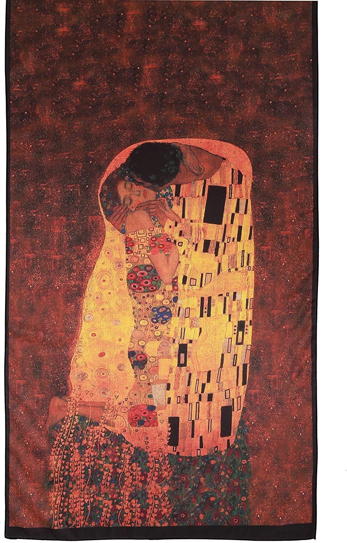US Bays Silk like Gustav Klimt Art Series Scarves and Shawls, Large Size