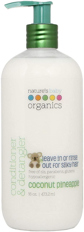Nature's Baby Organics Conditioner & Detangler, Coconut Pineapple, 16 Oz