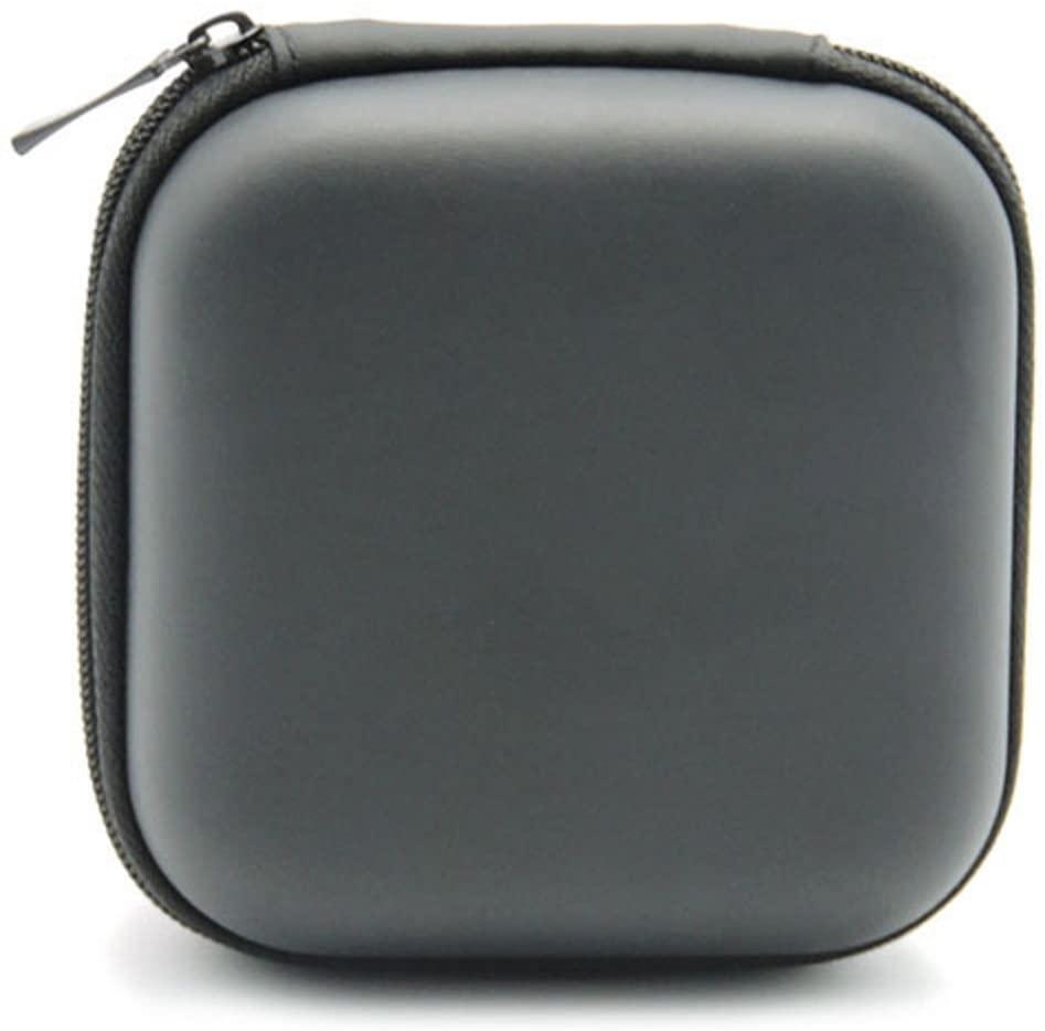 heaven2017 Fashion Square Pocket Hard Case Storage Bag for Headphone Earphone Earbuds TF SD Card (Black)