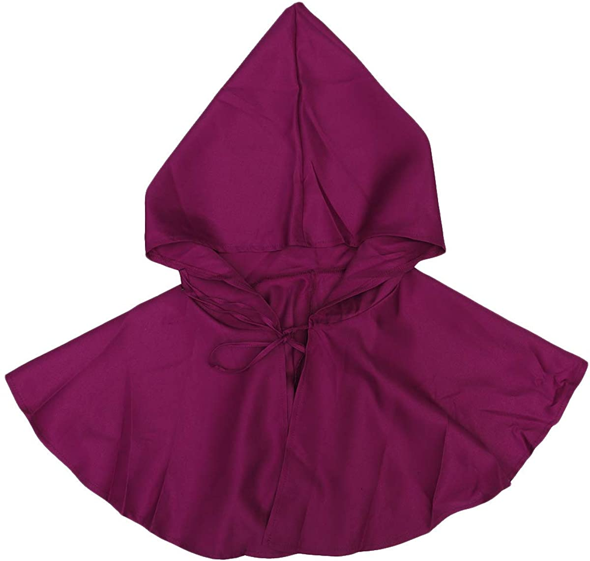BESPORTBLE Halloween Costume Hood Cape Cosplay Dress-Up Death Vampire Cloak Costume for Adults Christmas Party Props, Red
