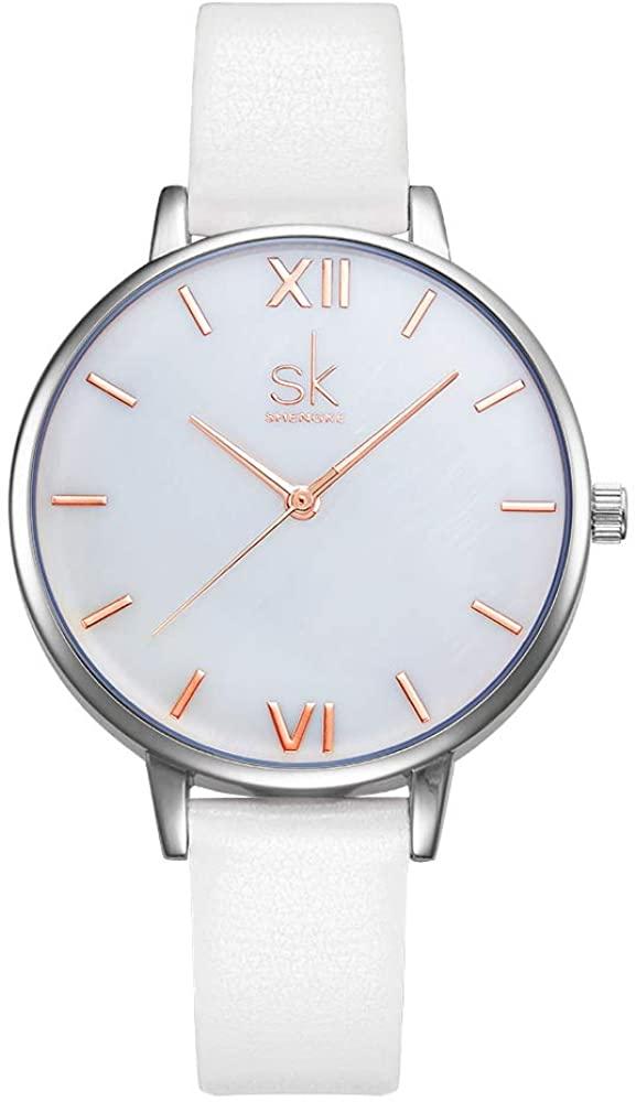 SHENGKE Simplicity Creative Women Watch Genuine Leather Elegant Women Watches Ladies Business Wristwatch