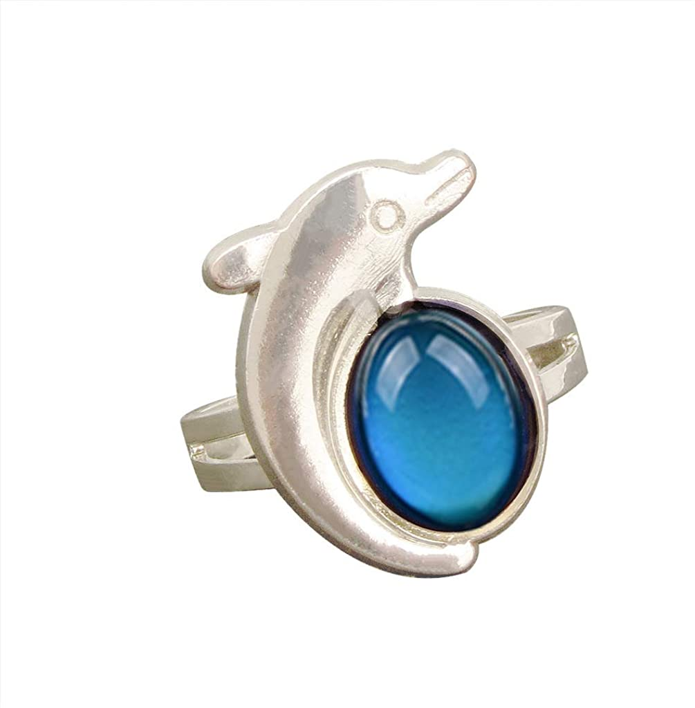 GUGELIVES Turtle Mood Ring Can Change The Color and Adjust The Size of The Decorations