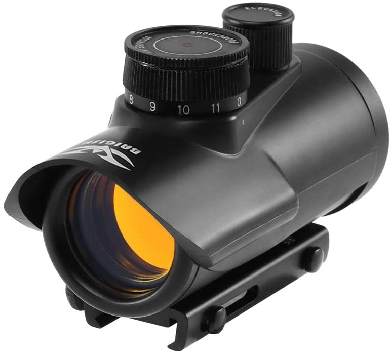 BAIGISH Holographic 1 x 30mm Red Dot Sight Scope 11mm & 20mm Weaver Rail Mount Tactical Mini Red Dot Scope Hunting