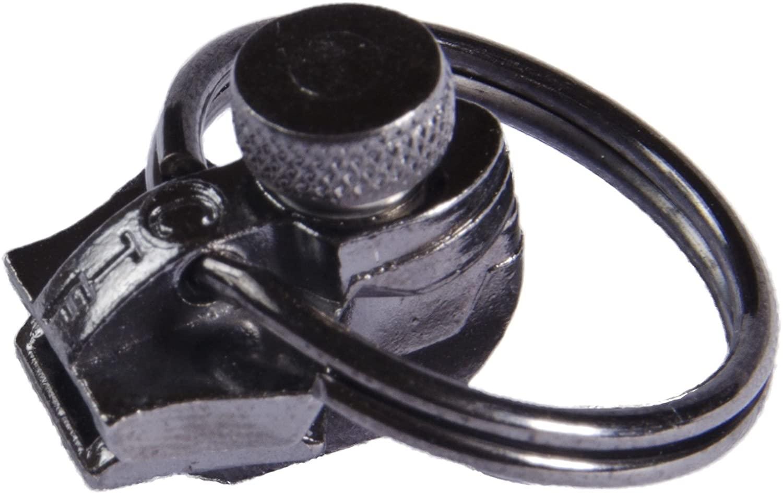 FixnZip Instant Zipper Replacement, Medium, Black Nickel