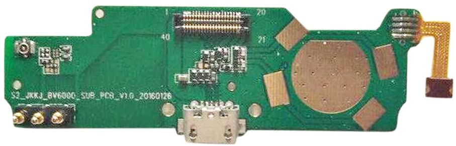 GinTai Replacement for Blackview BV6000 USB Board Charge Port+Microphone for BV6000S Phone