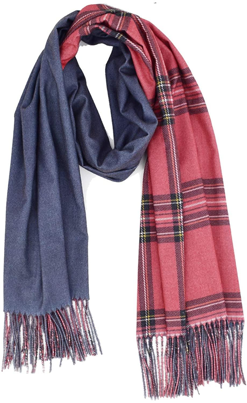 Cashmere Scarf Blanket Plaid Scarf for Women Tartan Scarf Cashmere Wrap