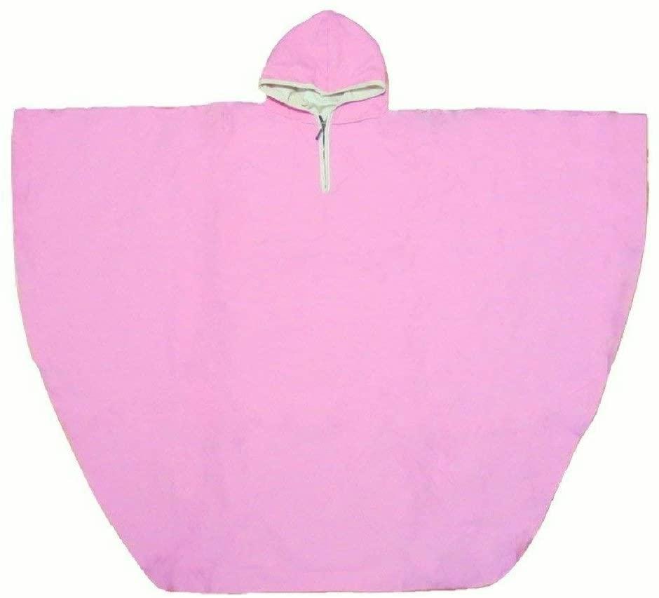 Waterproof Hooded Rain Poncho for Wheelchair Users (Pink)
