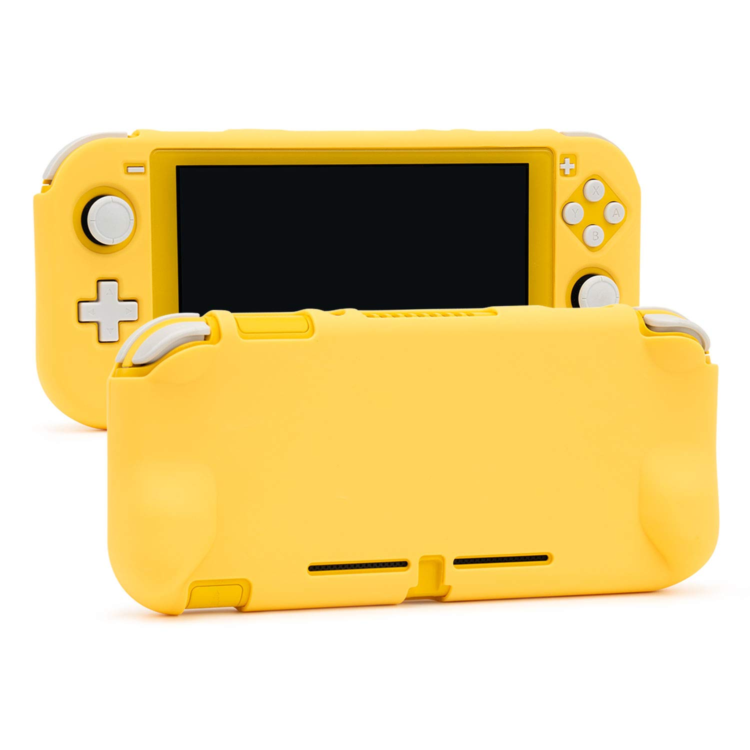 U Core Protective Case for Nintendo Switch Lite, Soft Touch DIY Replacement Shell with Shock-Absorption and Anti-Scratch - Yellow