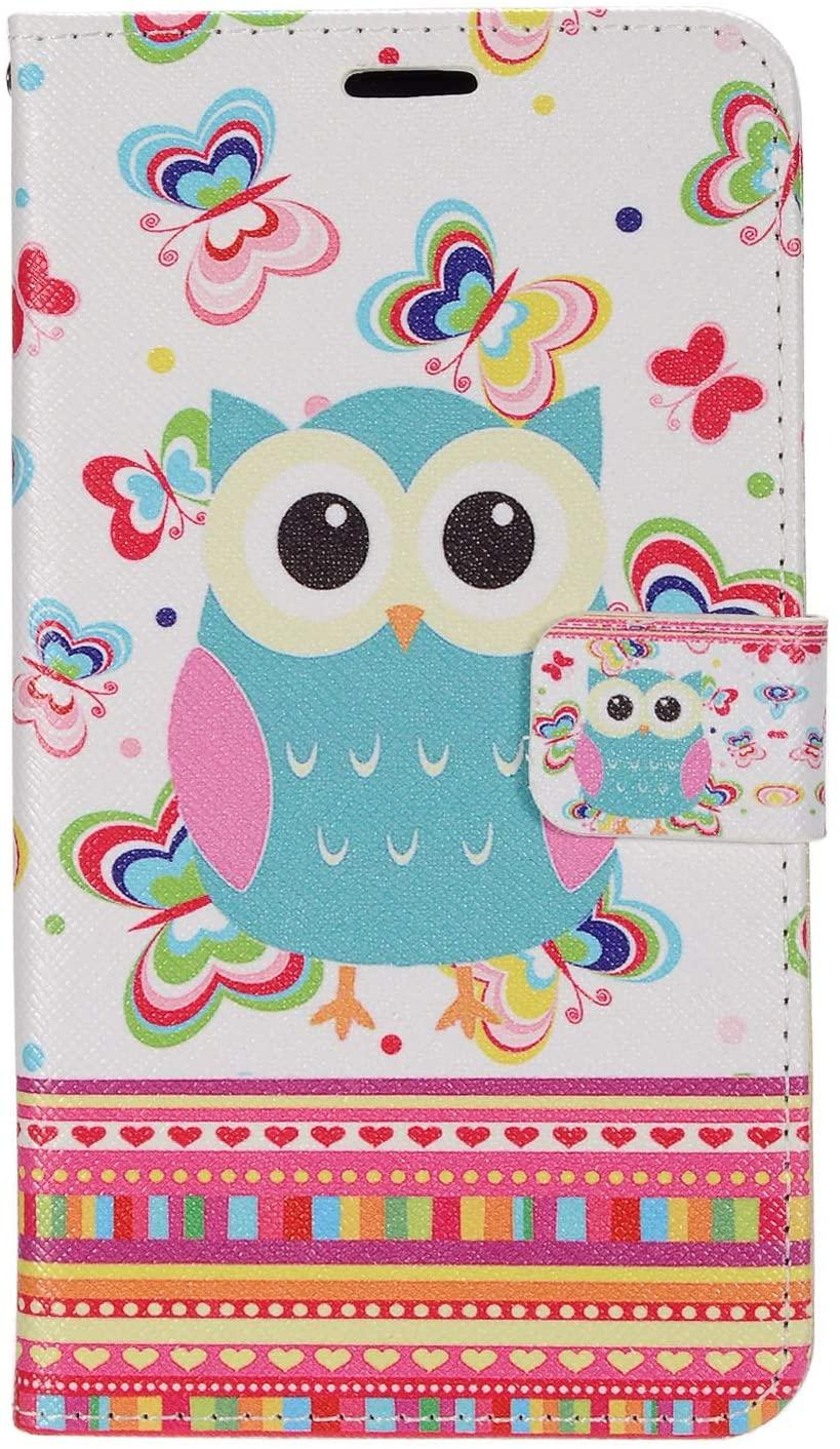 Z-GEN - LG G5 - Image Flip Wallet Case + PET Film Screen Protector - ZD07 Butterflies/Owl