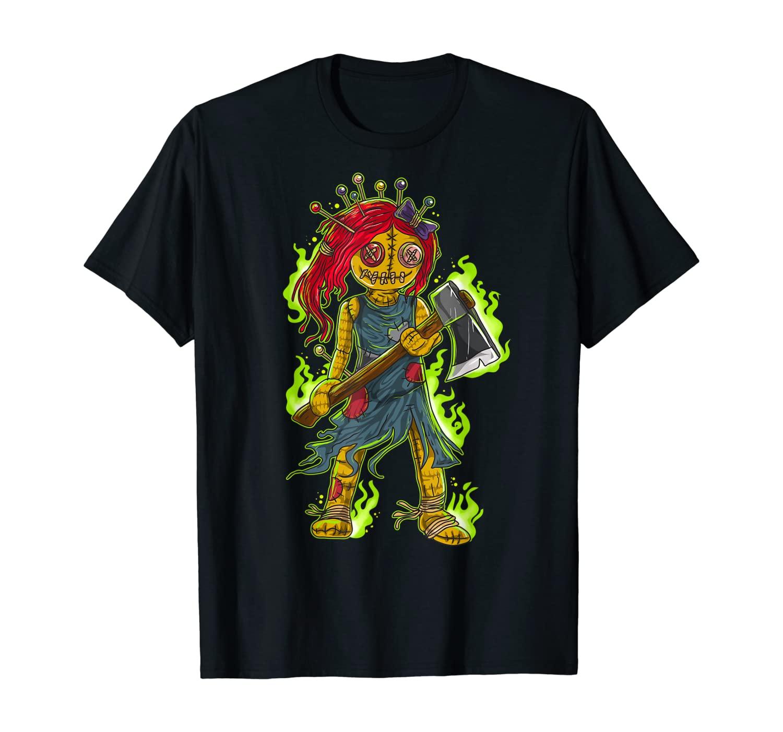 Zombie Voodoo Doll Halloween Men Women Kids Gift T-Shirt