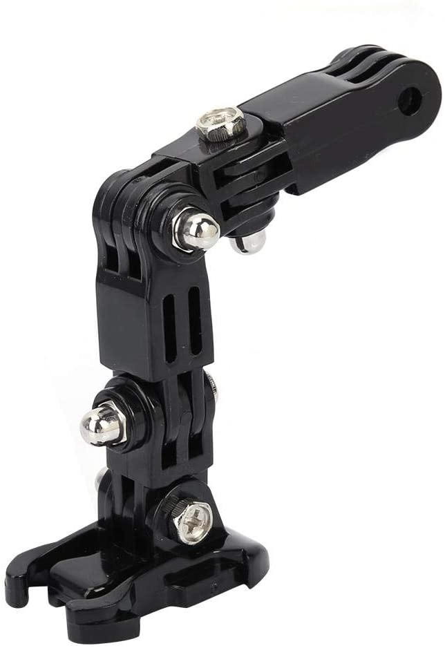 Serounder Helmet Mount Arm Adjustable Bracket Sports Camera Housing Adapter with Curved Adhesive Pad for GoPro Xiaoyi
