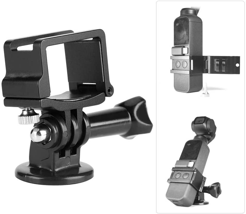 Serounder Aluminum Alloy Expansion Clip Adapter Mount Stand Base Camera Bracket Holder Clamp Kit for DJI Osmo Pocket Accessories
